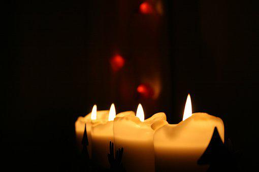 Candle, Candlelight, Darkness, Brand, Wax, Mood
