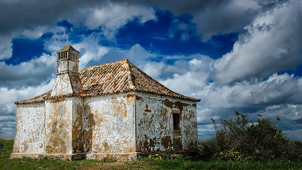 Sky, Nature, Architecture, Old, Outdoors, House