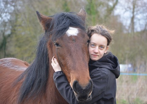 Girl, Head Horse, Complicity, Tenderness, Affection