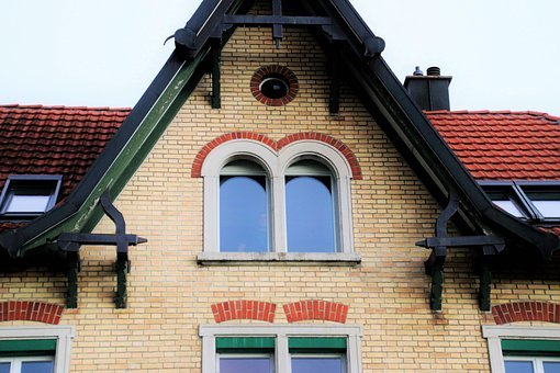 Old, Building, Residential, The Roof Of The, The Window
