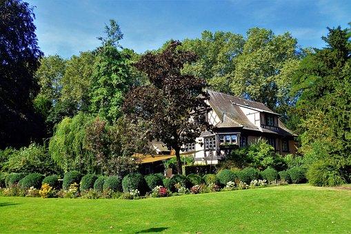 Strasbourg, Tree, House, Lawn, Turf, Summer, Nature