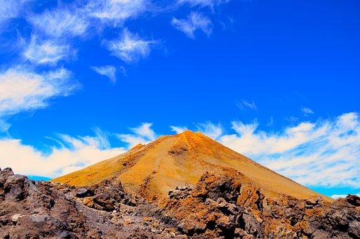 Sky, Mountain, Nature, Travel, Landscape, Volcano