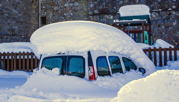 Winter, Snow, Cold, Car, Outdoors, Travel, Nature
