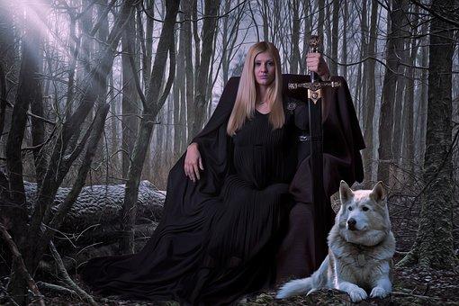 Gothic, Fantasy, Dark, Medieval, Queen, Warrior, Woman