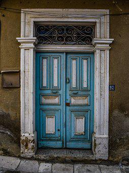 Door, Architecture, Neoclassic, Old, Decay, Aged