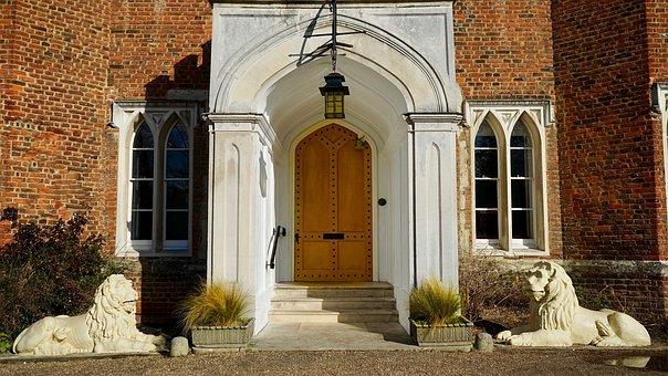 Architecture, Door, Doorway, House, Facade, Old, Gothic