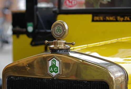 Auto, Cool Figure, Brass Radiator, Nag