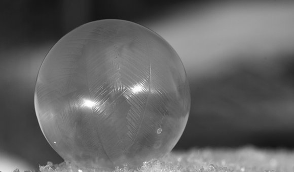 Ball, Frozen, Frosted, Bubble, Ice-bag, Soap Bubble