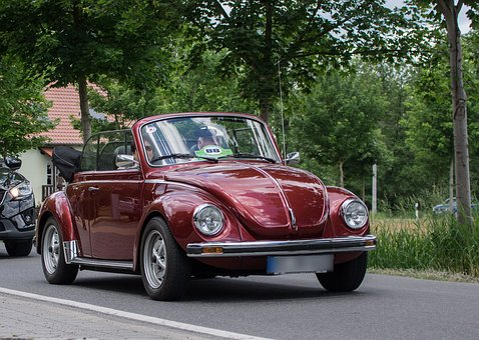 Auto, Vw, Beetle, Vehicle, Oldtimer, Cabriolet