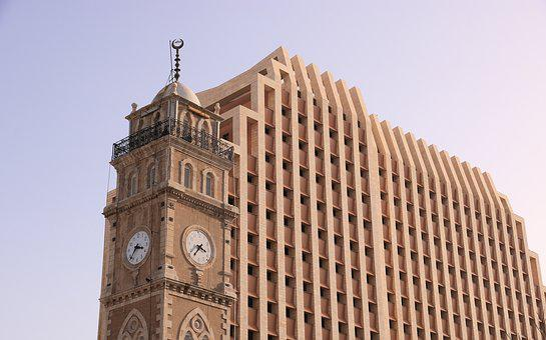 Israel, Haifa, Building, Tower, Clock, Office