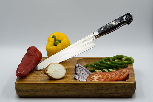 Knife, Food, Wood, Wooden, Cooking