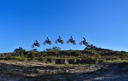 Motocross, Jump, Ramp, Dirt Bike, Outdoors, Sport