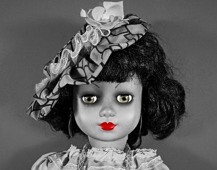 Doll, Girl Doll, Face, Portrait, Eyes, Lips, Hair, Hat