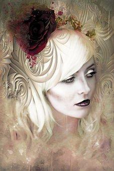 Gothic, Dark, Fantasy, Beautiful, Girl, Woman, Portrait