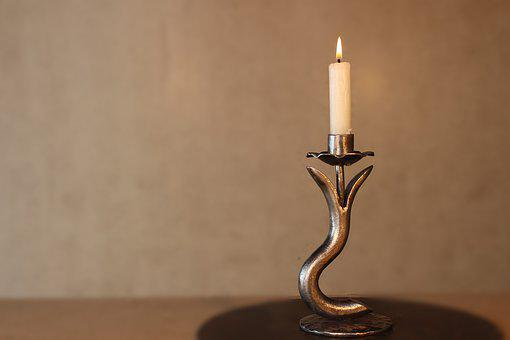 Candlestick, Metal, Forging, Pattern