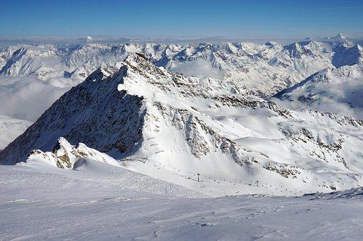 Snow, Mountain, Winter, Mountain Peak, Panoramic