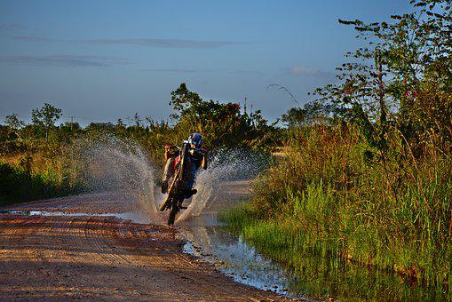 Wheeler, Motorcycle, Water, Nature, Outdoors, Travel