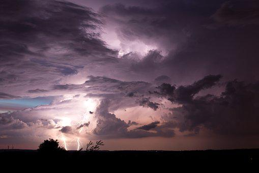 Nature, Sky, Thunderstorm, Flash, Lampshade, Night