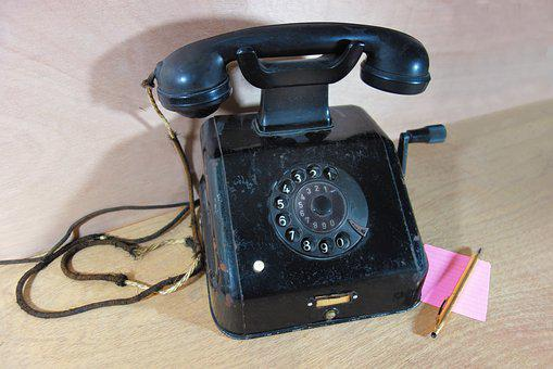 Telephone, Dial, Receiver, Cradle, Button