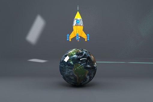 Rocket, 3d Modeling, 3d