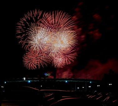Fireworks, Pyronale, Berlin, Event, Rocket