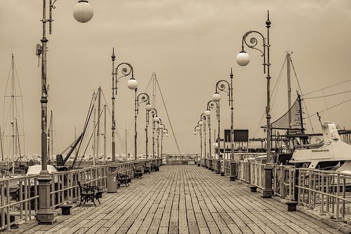 Pier, Sea, Harbor, Marina, Larnaca, Cyprus