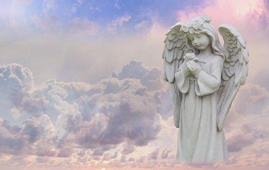 Sky, Angel, Statue, Wing, Guardian Angel, Heavenly