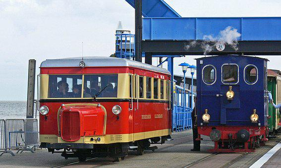 Borkum, Small Ground, Port, Investors, Steam Locomotive