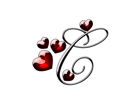 St Valentine's Day, 14 February, Red Heart, Template