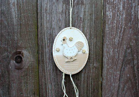 The Hen, Egg, Ornament, Decoration, Easter Decorations