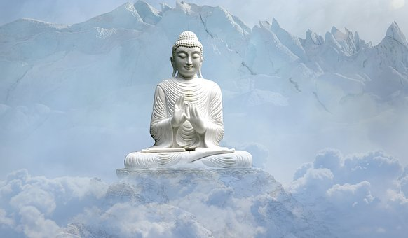Sky, Travel, Snow, Statue, Sculpture, Buddha, Religion