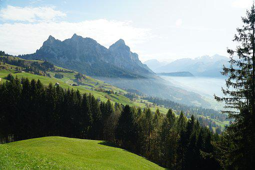 Mountain, Nature, Panorama, Landscape, Tree, Travel