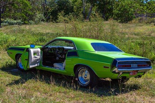 Car, Vehicle, 1970 Dodge Challenger, Usa Car