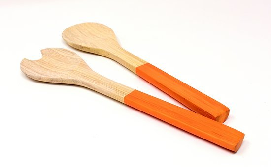 Salad Servers, Wood, Kitchen Cutlery, Budget