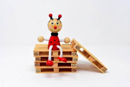 Ladybug, Figure, Wood, Funny, Colorful, Red