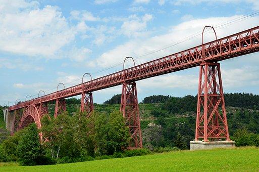 Bridge, Steel, Sky, Viaduct, Garabit, Auvergne