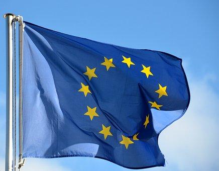 Flag, Europe, Demokratie, Banner, Wind, Freedom, Sky