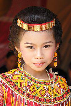 People, Traditional, Clothing, Portrait, Child, Exotic