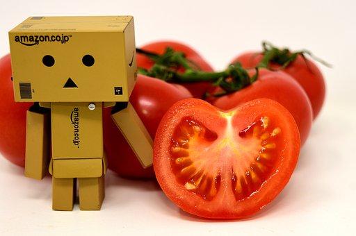Danbo, Figure, Tomatoes, Vegetables, Healthy, Food