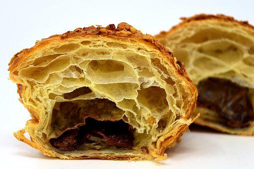 Chocolate Croissant, Puff Pastry, Delicious, Croissant
