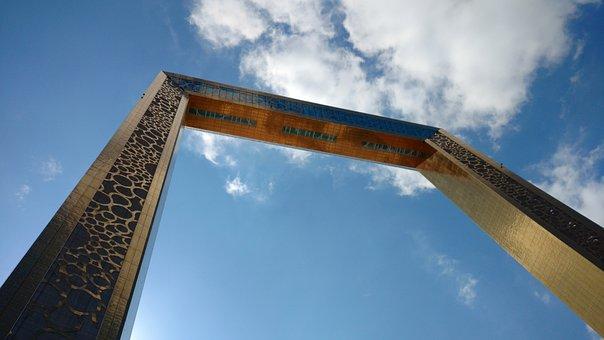 Dubai Frame, Sky, Architecture, Blue Sky