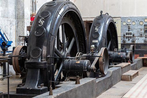 Machine, Wheel, Old, Equipment, Industry, Power Plant