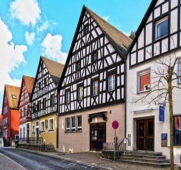 Fachwerkhaus, Building, Facade, Truss, Old Town