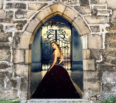 Fantasy, Princess, Story, Magic, Arch, Castle