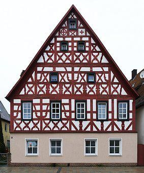Fachwerkhaus, Facade, Renovated, Historic Center