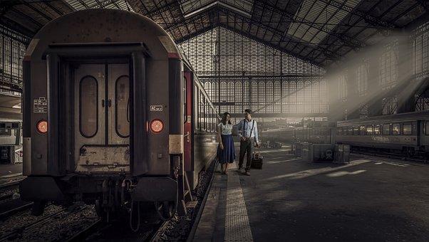 Train, Transportation System, Railway, Indoors, Station