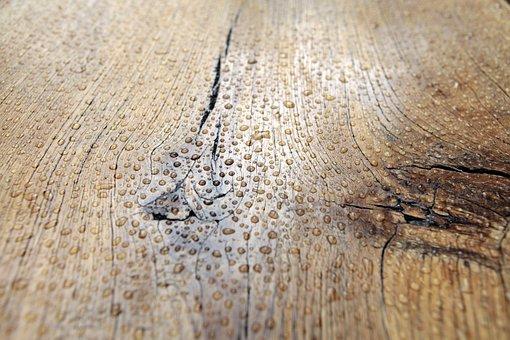 Drops, Rain, Wet, Board, Oak, Texture, Model, Nature