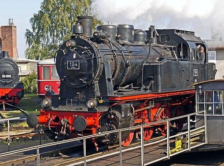 Steam Locomotive, Elna, Museum, Hub