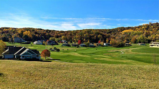 Grass, Golf, Landscape, Nature, Outdoors, Panoramic