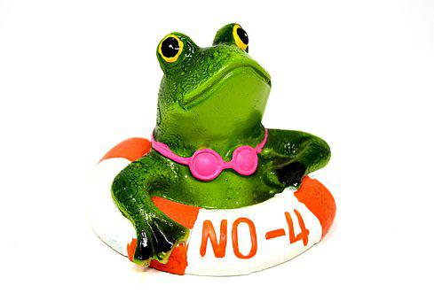 Frog, Lifebelt, Figure, Lake, Security, Red